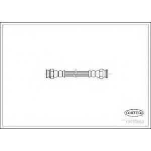 CORTECO 19018680 Тормозной шланг