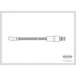 CORTECO 19018868 Тормозной шланг