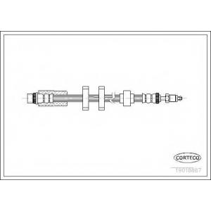 CORTECO 19018887 Тормозной шланг