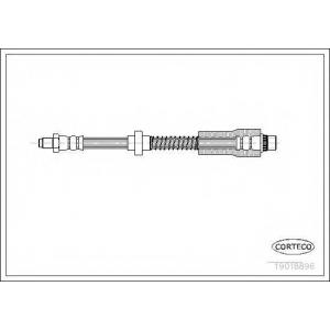 CORTECO 19018896 Тормозной шланг