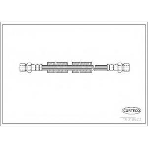 CORTECO 19018923 тормозной шланг VW-Audi