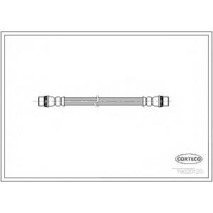 CORTECO 19020120 Шланг тормозной зад. Trafic/Vivaro 01-