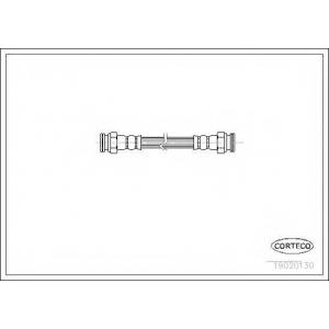 CORTECO 19020130 Тормозной шланг
