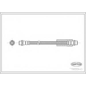 CORTECO 19020443 Тормозной шланг