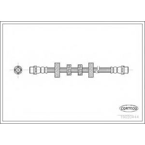 19020444 corteco Тормозной шланг AUDI 100 седан 2.0