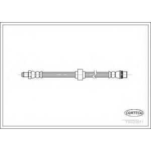 CORTECO 19020611 Тормозной шланг