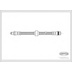 CORTECO 19025755 Шланг гальмівний передній Renault Trafic 04-