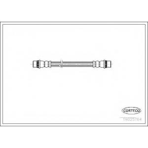 CORTECO 19025764 Шланг гальмівний зад. Peugeot Partner /Citroen Berlingo 96-