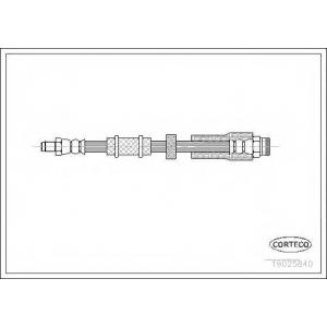 CORTECO 19025840 Тормозной шланг