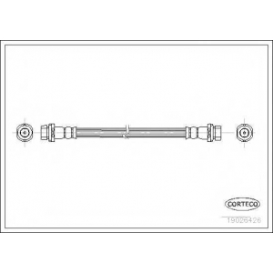 CORTECO 19026426 Тормозной шланг