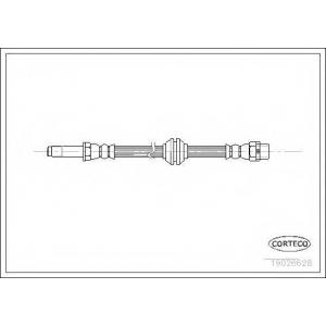 CORTECO 19026628 Тормозной шланг