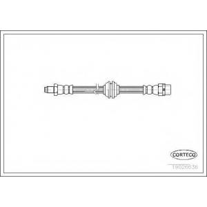 CORTECO 19026636 Тормозной шланг
