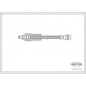 CORTECO 19026685 Тормозные шланги