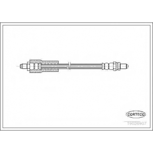 CORTECO 19026907 Тормозной шланг