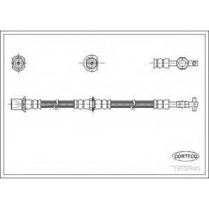 CORTECO 19030485 Тормозной шланг