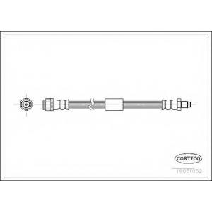 CORTECO 19031052 Шланг гальмівний зад. MB M-Class W163 2.3-5.5 98-05