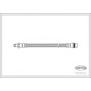 CORTECO 19031180 Тормозной шланг