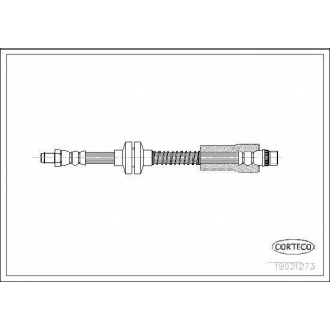 CORTECO 19031273 Тормозной шланг
