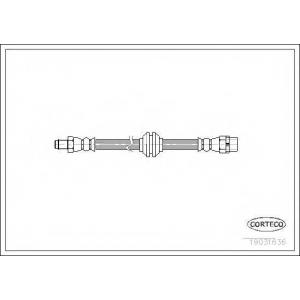 CORTECO 19031636 Тормозной шланг