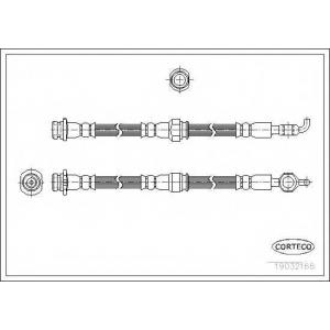 CORTECO 19032166 Тормозной шланг