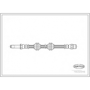 Тормозной шланг 19032848 corteco - MERCEDES-BENZ VITO автобус (638) автобус 108 D 2.3 (638.164)