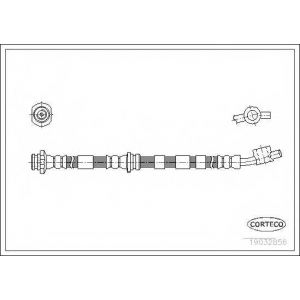 CORTECO 19032856 CO19032856 Шланг гальмівний CORTECO (шт.)