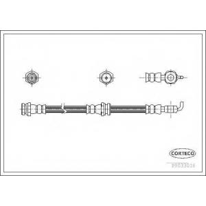 CORTECO 19033016 Тормозной шланг