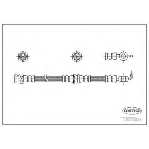 CORTECO 19033024 Тормозной шланг