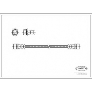 CORTECO 19033080 Тормозной шланг