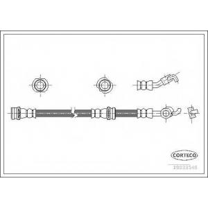CORTECO 19033546 Тормозной шланг