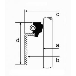 Уплотнительное кольцо, стержень кла 19033939 corteco - DAIHATSU ROCKY Soft Top (F7, F8) Вездеход открытый 2.8 TD