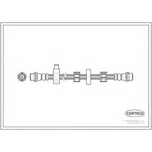 CORTECO 19034271 Тормозной шланг