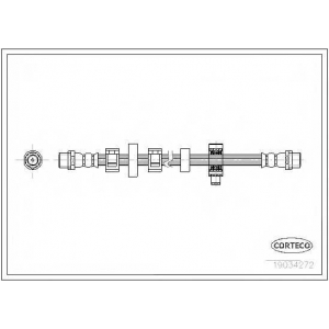 CORTECO 19034272 Тормозной шланг