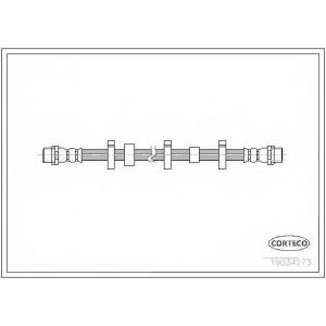 CORTECO 19034273 Тормозной шланг