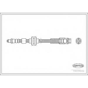 CORTECO 19034669 Тормозной шланг