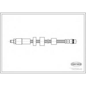 CORTECO 19034948 Тормозной шланг