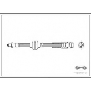 CORTECO 19035035 Тормозной шланг