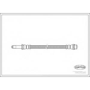 Тормозной шланг 19035285 corteco - MERCEDES-BENZ SPRINTER 2-t автобус (901, 902) автобус 208 D