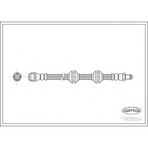 CORTECO 19035289 Тормозной шланг