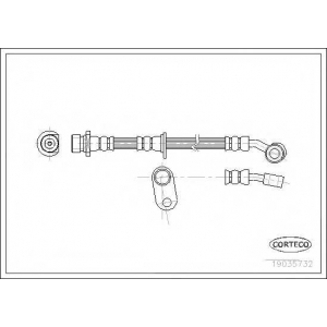 CORTECO 19035732 Тормозной шланг