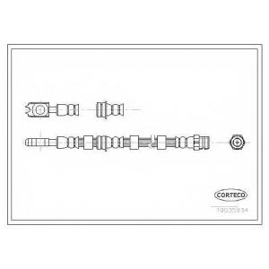 CORTECO 19035934 Тормозной шланг