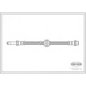 CORTECO 19036178 Тормозной шланг