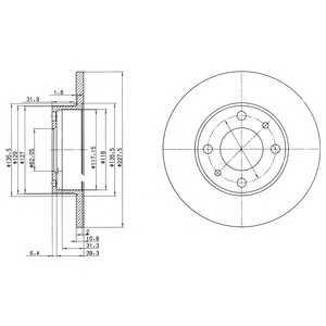 DELPHI BG2147 Тормозной диск Лансия