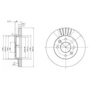 DELPHI BG2282 Гальмівний диск