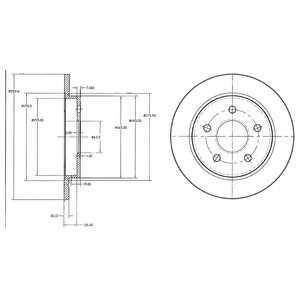 DELPHI BG2332 Гальмівний диск
