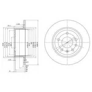 DELPHI BG2381 Тормозной диск Опель Омега