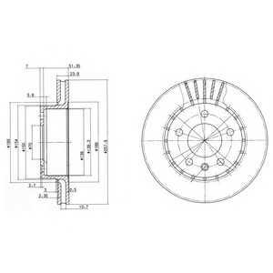 DELPHI BG2384 Тормозной диск Опель Омега