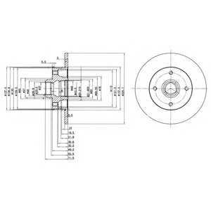 DELPHI BG2389 Гальмівний диск