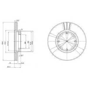DELPHI BG2394 Гальмівний диск