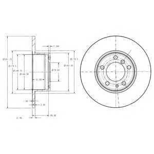 DELPHI BG2430 Гальмівний диск